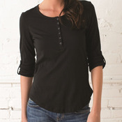 Ladies' Rolled Sleeve Henley
