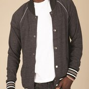 Eco Cashmere Baseball Jacket