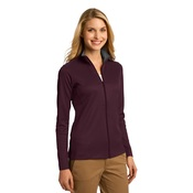 Ladies Vertical Texture Full Zip Jacket
