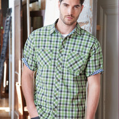 Vintage Plaid Short Sleeve Shirt