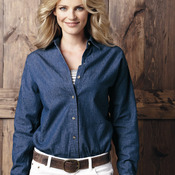 Ladies' Long Sleeve Denim