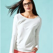 Ladies' Terry Long Sleeve Scoopneck T-Shirt