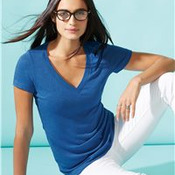Ladies' Triblend Deep V-Neck T-Shirt