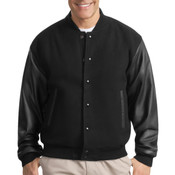Wool and Leather Letterman Jacket