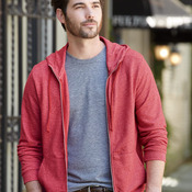 Eco Mock Twist French Terry Mock Neck Full-Zip Hood