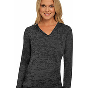 Ladies' Burnout Hooded Pullover
