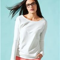 Ladies' Terry Long Sleeve Scoopneck T-Shirt Thumbnail